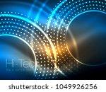 magic neon circle shape... | Shutterstock .eps vector #1049926256