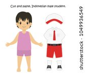 cut and paste indonesian male...   Shutterstock .eps vector #1049936549