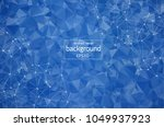 abstract blue polygonal space... | Shutterstock .eps vector #1049937923