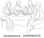 people eat at the table. single ...   Shutterstock .eps vector #1049944370