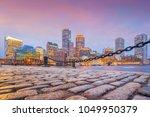 boston harbor and financial... | Shutterstock . vector #1049950379