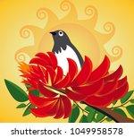erythrina variegata flowers and ...   Shutterstock .eps vector #1049958578