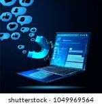 facebook digital advertising... | Shutterstock .eps vector #1049969564