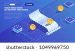 payment through internet  data... | Shutterstock .eps vector #1049969750