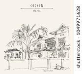 cochin  kochi   kerala  south... | Shutterstock .eps vector #1049971628