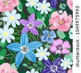 abstract flower seamless... | Shutterstock .eps vector #1049975993
