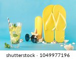 colorful summer background.... | Shutterstock . vector #1049977196