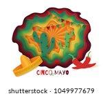 cinco de mayo poster design.... | Shutterstock .eps vector #1049977679