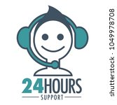24 hours support promotional... | Shutterstock .eps vector #1049978708