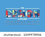 vector of modern abstract font... | Shutterstock .eps vector #1049978906