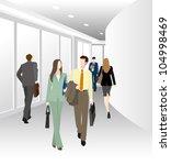 image of business   corridor | Shutterstock .eps vector #104998469