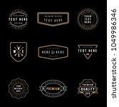 vintage badge logos   set of... | Shutterstock .eps vector #1049986346