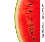 Watermelon Isolated On White...