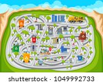 fun educational clean urban... | Shutterstock .eps vector #1049992733