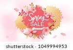 spring sale vector illustration.... | Shutterstock .eps vector #1049994953