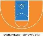 basketball court floor with...   Shutterstock .eps vector #1049997140