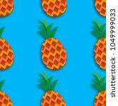 pineappple seamless pattern.... | Shutterstock .eps vector #1049999033