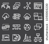 simple network icons set.... | Shutterstock .eps vector #1050003230