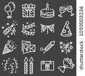 outline web icon set   party ... | Shutterstock .eps vector #1050003236