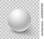 blank of white round sphere or... | Shutterstock .eps vector #1050003290
