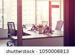 empty office room concept. | Shutterstock . vector #1050008813