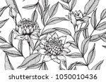 hawaiian pattern seamless... | Shutterstock .eps vector #1050010436