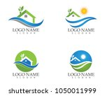 Stock vector building home nature logo design template 1050011999