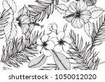 hawaiian pattern seamless...   Shutterstock .eps vector #1050012020