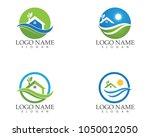 building home nature logo... | Shutterstock .eps vector #1050012050
