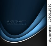 blue curve line vector... | Shutterstock .eps vector #1050015350