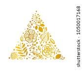 flower triangle shape pattern.... | Shutterstock .eps vector #1050017168