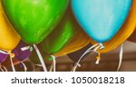 colourful balloons in a party. | Shutterstock . vector #1050018218