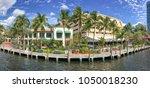 beautiful river walk promenade  ... | Shutterstock . vector #1050018230