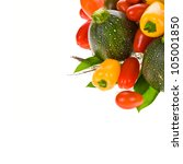 several vegetables isolated on... | Shutterstock . vector #105001850