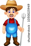 handsome farmer cartoon...