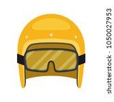 helmet motorcycle vector... | Shutterstock .eps vector #1050027953