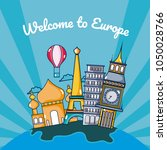 travel and discover europe... | Shutterstock .eps vector #1050028766