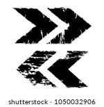 grunge dirt arrow vector. dry... | Shutterstock .eps vector #1050032906