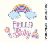 hello baby cartoons card   Shutterstock .eps vector #1050034589