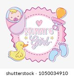 mommys girl cartoon | Shutterstock .eps vector #1050034910