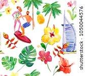 summer vacation concept. dubai  ... | Shutterstock . vector #1050044576