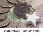 a quarter of kansas  quarters...   Shutterstock . vector #1050045986