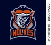colorful emblem  logo  snarling ... | Shutterstock .eps vector #1050049220