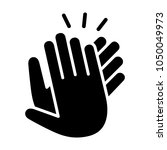 hands clapping  applauding or... | Shutterstock .eps vector #1050049973