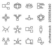 flat vector icon set   share... | Shutterstock .eps vector #1050056360