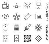 flat vector icon set   tv... | Shutterstock .eps vector #1050057170