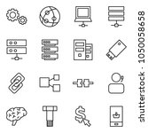 flat vector icon set   gears... | Shutterstock .eps vector #1050058658