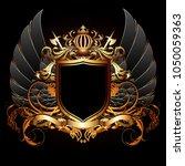 heraldic shield on the... | Shutterstock .eps vector #1050059363