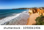 portimao  city on the atlantic... | Shutterstock . vector #1050061406