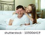 happy girl closing her... | Shutterstock . vector #105006419